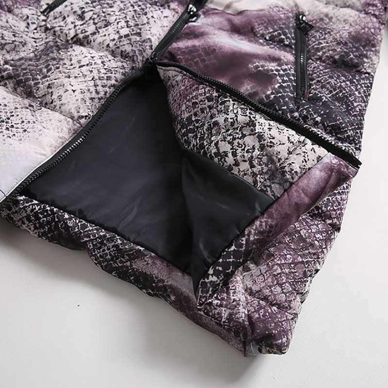 Casual Winter Jassen Bont Blauw Plus Size Jassen Womens Parka Slim Print Lange Outwears Grijs 2019 Warme Vrouwelijke High Street overjassen