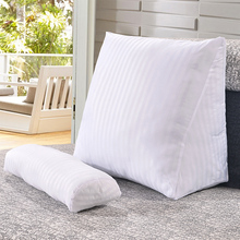 Cotton Linen Triangular Backrest Cushion For Sofa Cushions For Bed Rest Pillow Back Support Large Size