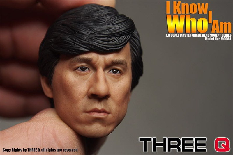 ThreeQ 1/6 Head Sculpt Film Kung Fu Star Jackie Chan Asian Men Head Carving Model for 12 Action Figure Toys Accessories factory direct italics opening film ru ru ceramic dragons kung fu tea logo customized gift boxes