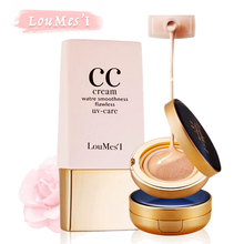 Loumesi Air Cushion CC Cream with 40ml  Supplement fluid  high coverage foundationBase Makeup Cosmetics