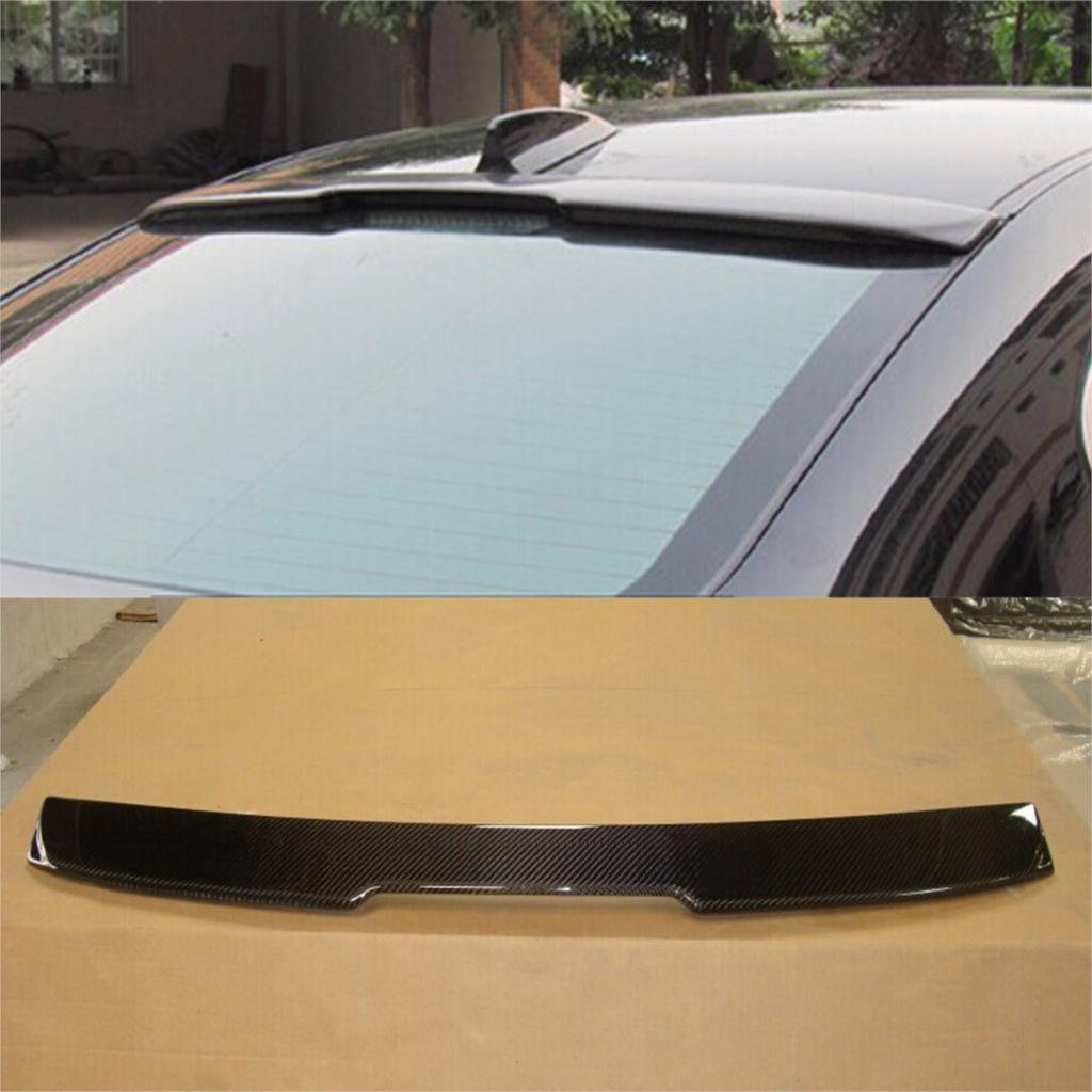 E60 Carbon Fiber Car Rear Roof  wing Lip Spoiler for BMW 5Series  AC Style 05-11 hot car abs chrome carbon fiber rear door wing tail spoiler frame plate trim for honda civic 10th sedan 2016 2017 2018 1pcs