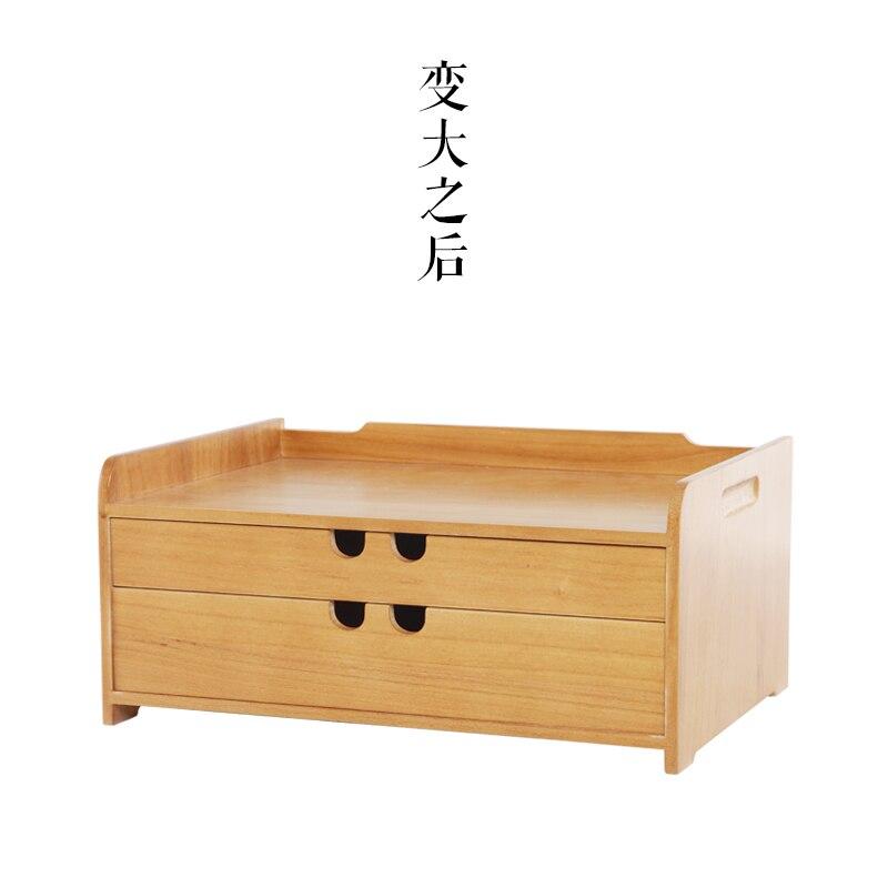 Style japonais en bois bois art populaire maison bureau boîte de rangement de bureau tiroir bijoux papeterie cosmétique stockage couches