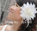 2015 hot sale White Bridal hairpins tiars  princess headdress flower wholesale best tiara for bride hair accessories