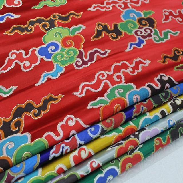 CF40 40 Yard Auspicious Cloud Patterns Bronzed Jacquard Fabrics For Fascinating Chinese Fabric Patterns