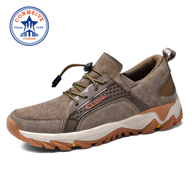 Sale Genuine Leather Hiking Shoes Autumn Winter Hunting Outdoor Warm Trekking Boots Classic Climbing Mens Sneakers