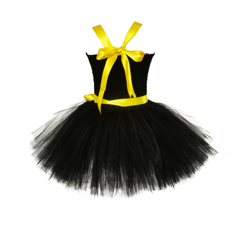 Image 4 - 1 14Y Black Girl Batman Tutu Dress Knee Length Bat Girl Birthday Halloween Cosplay Costume For Photos Baby Kids Clothes Set-in Girls Costumes from Novelty & Special Use