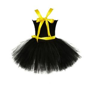 Image 4 - 1 14Y Black Girl Batman Tutu Dress Knee Length Bat Girl Birthday Halloween Cosplay Costume For Photos Baby Kids Clothes Set