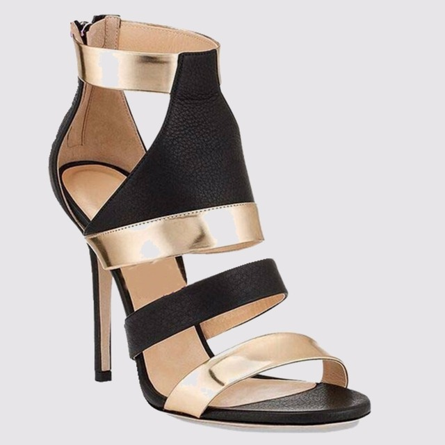 EDEN TONE New Summer Sexy Rome Style Women's Gladiator Sandals Open-toe High Heels Gladiator Woman shoes