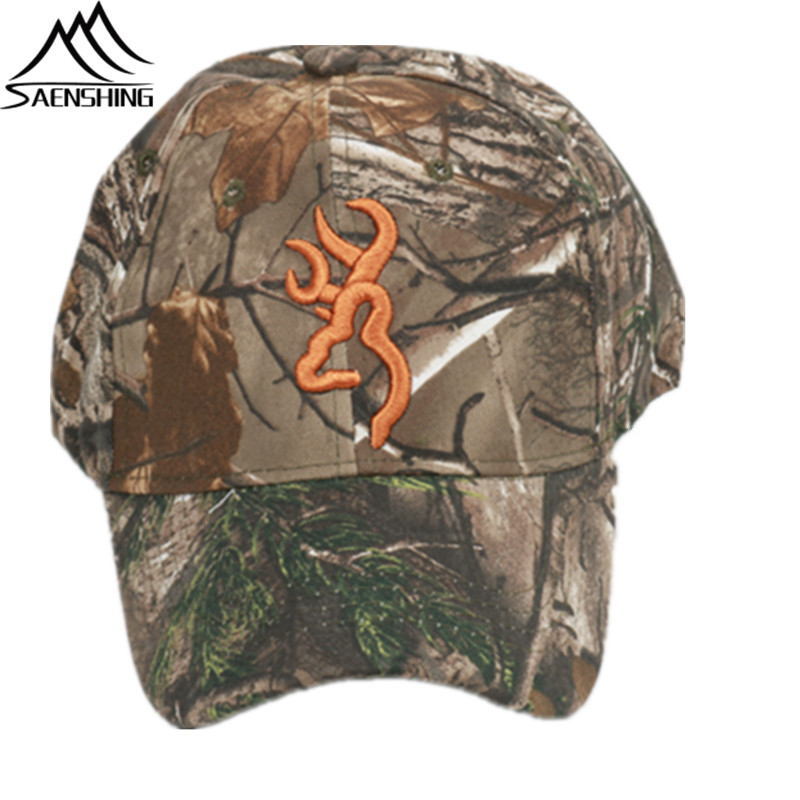 SAENSHING Browning Camouflage Cap Cotton Breathable Military Cap Tactical Baseball Caps Outdoor Brand Hat Fishing Hunting Caps jungle new outdoor men s recreational fishing hunting baseball cap bionic camouflage