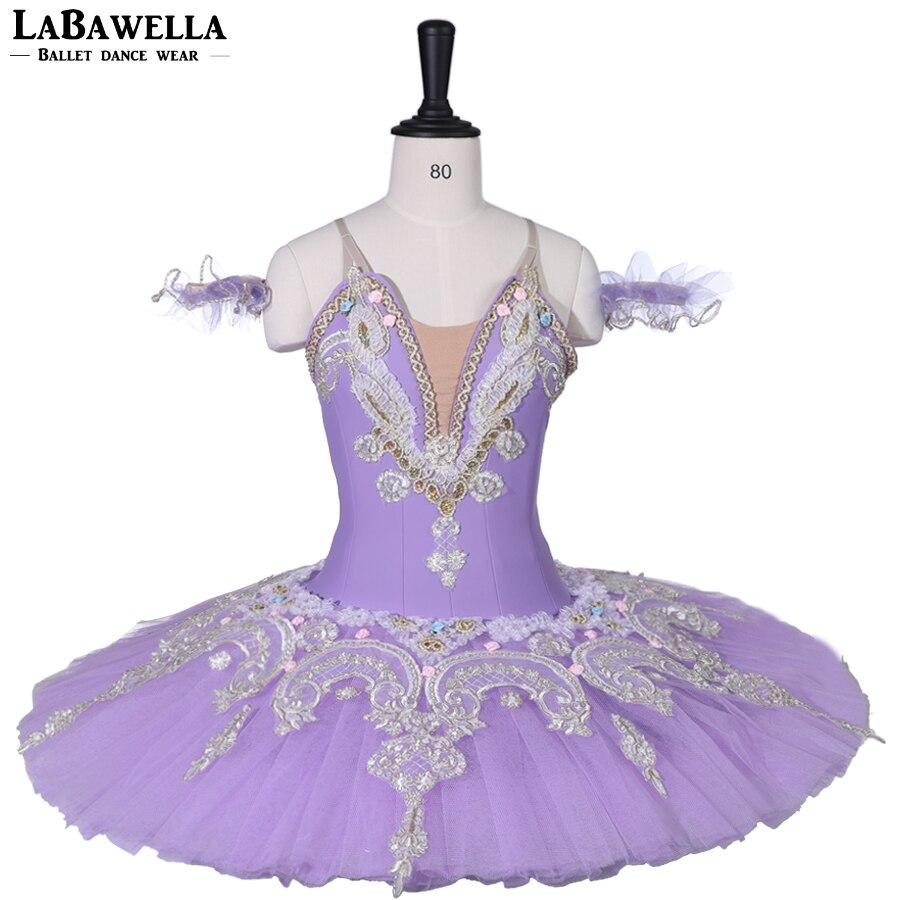 Adult Child Lilac Performance Platter Ballet Stage Costume Sleeping Beauty Professional Ballet Tutu for Women BT9059C