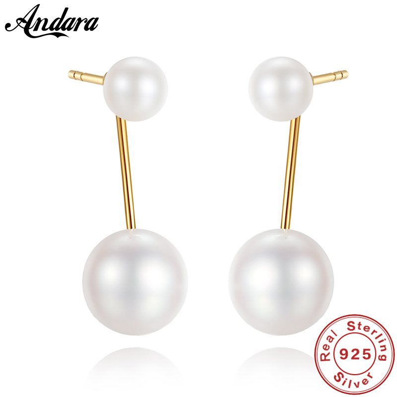 18K Yellow Gold Earrings 4-7mm Natural Pearls Stud Earrings Women Wedding Party Fine Jewelry18K Yellow Gold Earrings 4-7mm Natural Pearls Stud Earrings Women Wedding Party Fine Jewelry