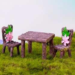 2/3 шт. мини стол стул для рукоделия садовые цветы для пейзажа декор из растений Птица орнамент новый