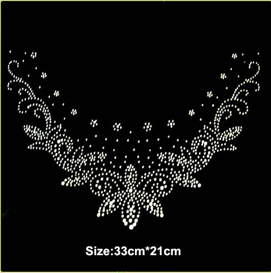 2pc lot Sweater appliques hot fix rhinestones iron on crystal transfers  design design stone iron on transfer patches sweater 0ce29c2f27a7