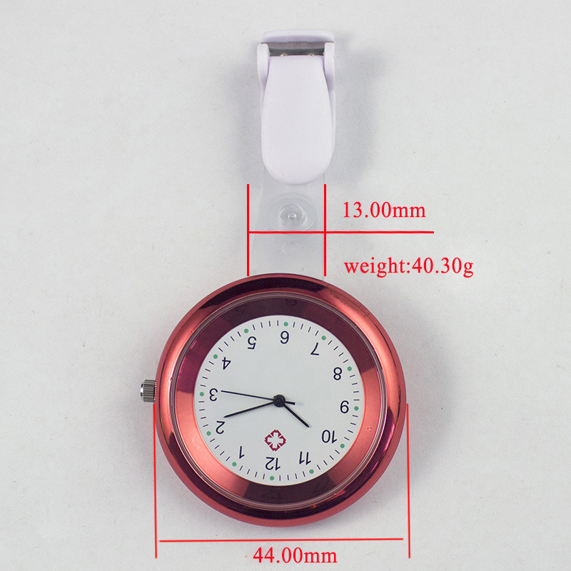 Nurse Watch Brooch Silicone Clip Infection Control Design Nurse Doctor Paramedic Brooch Fob Watch GDD99