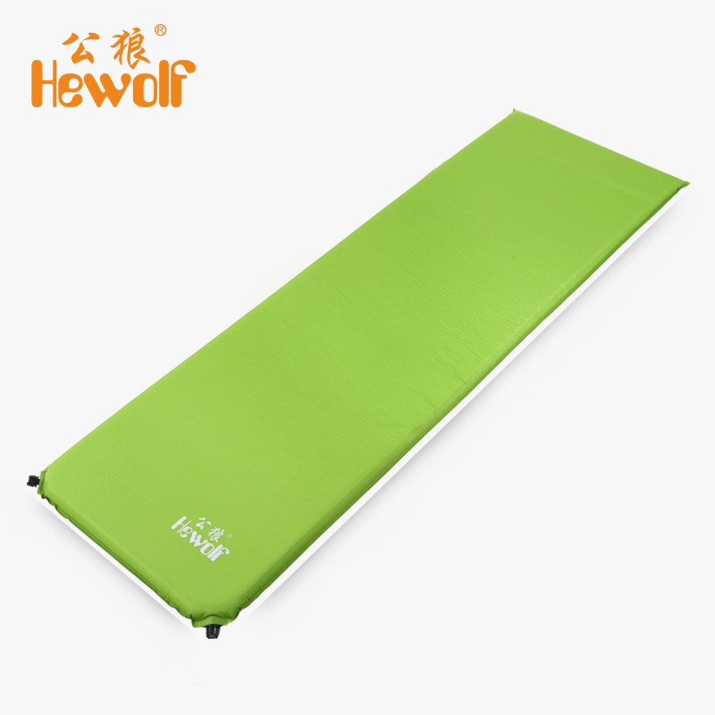Hewolf 5cm Thickness Outdoor Automatic Inflatable Waterproof Sleeping Pad Camping Mat Travel Cushion Single Air Mattress Bed automatic inflatable cushion outdoor travelling sleeping bed pad camping mat sleeping picinic mattress pad self inflating