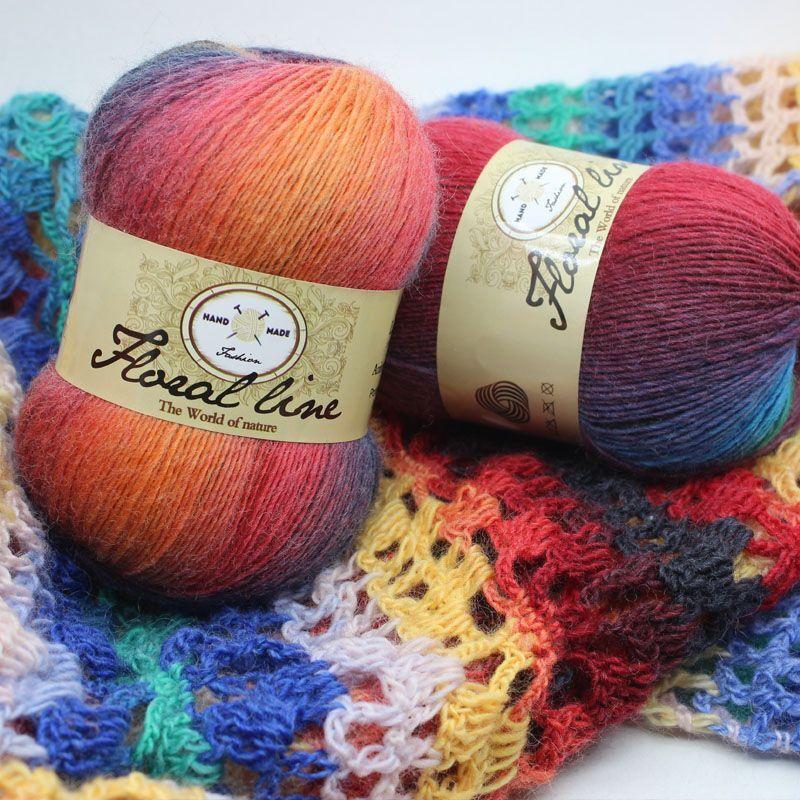 300g/3 Ball 100% mohair fil à tricoter de luxe fourrure poilue fil de cachemire pour tricoter à la main marifetli chaud doux tissage laine a tricoter