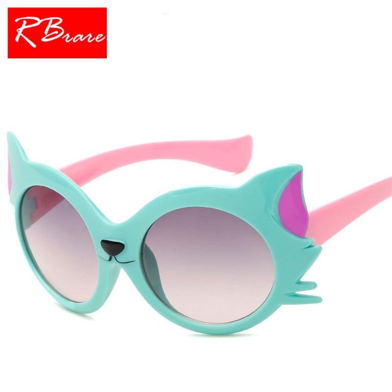 RBRARE 2018 Cartoon Sunglasses Children Travel Outdoor Silica Gel Sun Glasses Candy Color Shopping Goggles UV400 Oculos De Sol