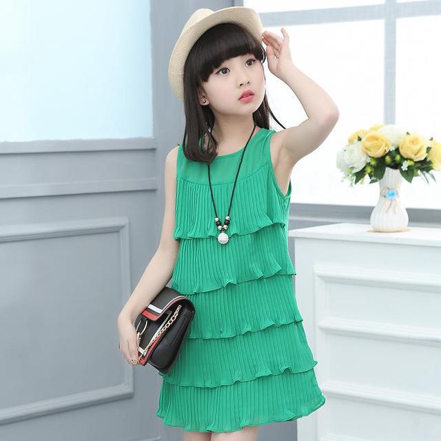 Kleid rosa grun