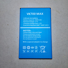 MATCHEASY Mobile phone  VK VK700 MAX 4200mAh High capacit Long standby time Original battery VK phone battery matcheasy battery for doogee mix lite battery 3080mah long standby time high capacit 5 2inch doogee mobile accessories