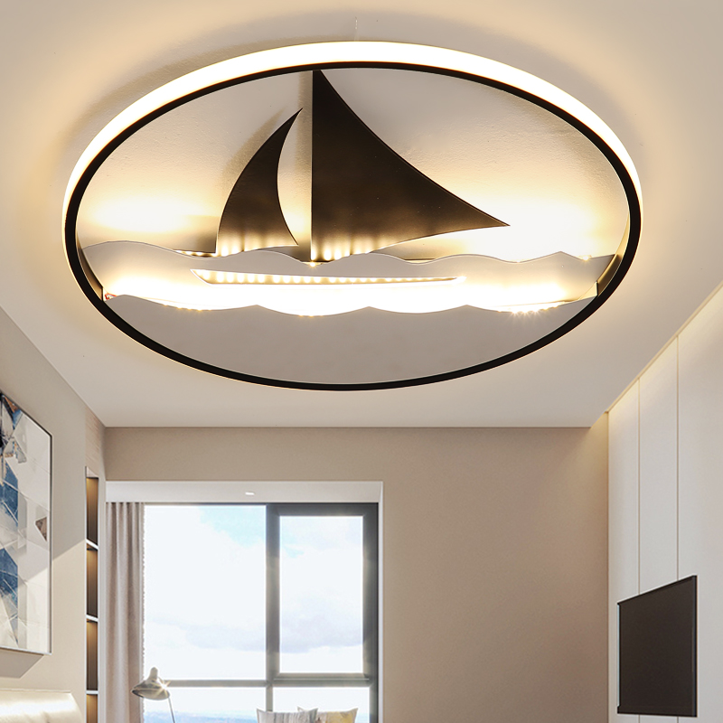 Modern minimalist bedroom living room creative children room cartoon super thin LED Everything is going smoothly ceiling lampModern minimalist bedroom living room creative children room cartoon super thin LED Everything is going smoothly ceiling lamp
