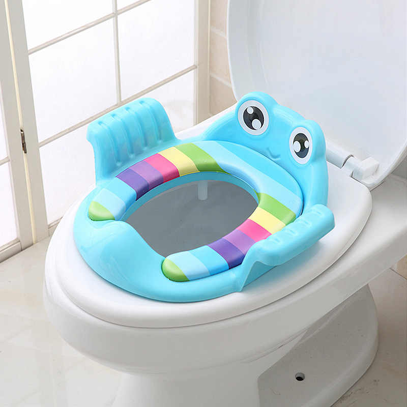 Travel Portable Baby Potty Seat Pad Kids Frog Shape Rainbow Travel Toilet Training Seat Toilet Mat Cover Cushion With Handle Seat Covers Aliexpress