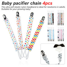 4Pcs Baby Pacifier Clip Chain Ribbon Dummy Holder Soother Clips Leash Strap Nipple For Infant Feeding
