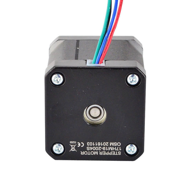 0.9deg Nema 17 Stepper Motor 2A 42x48mm 46Ncm/65oz.in 4-lead Nema17 Stepper 42 Motor for DIY 3D Printer CNC Robot