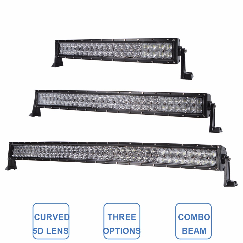 22 32 42 Inch Curved 200W 300W 400W Offroad LED Light Bar 12V 24V Car Auto Wagon Camper Pickup 4X4 4WD ATV SUV Driving Headlamp 1pcs 120w 12 12v 24v led light bar spot flood combo beam led work light offroad led driving lamp for suv atv utv wagon 4wd 4x4