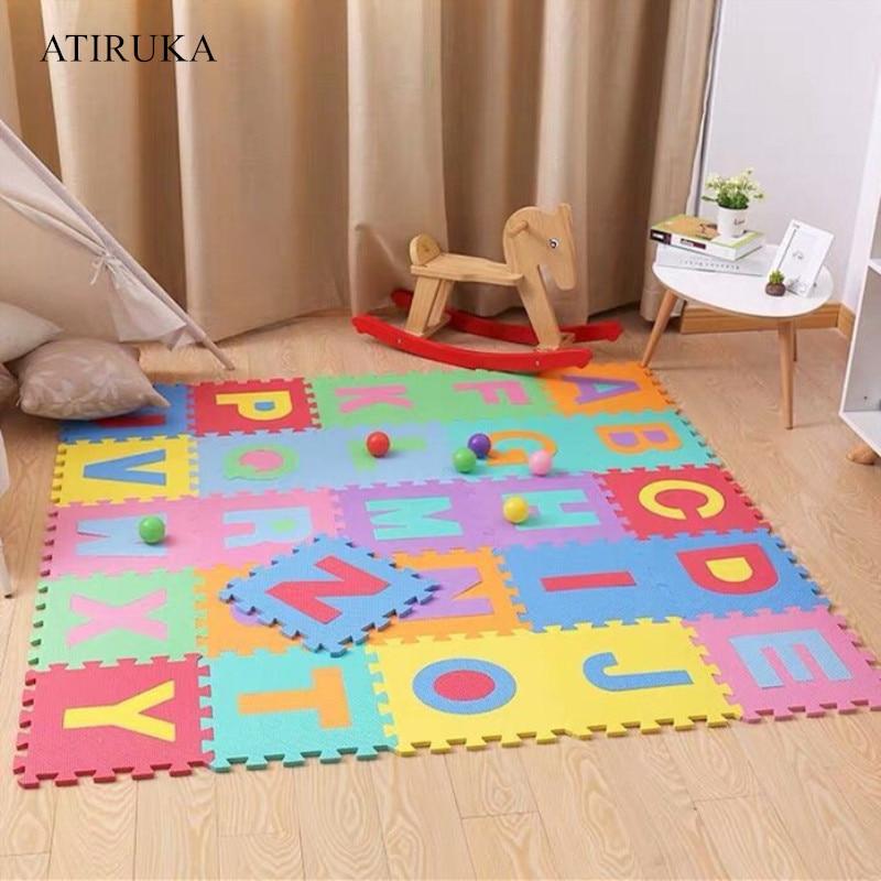 26 pièces tapis pour enfants bébé tapis de jeu Puzzle jouets Eva mousse jouet éducatif enfant tapis développement tapis Tappeto Bambini