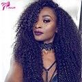 Brasileño de la Virgen Del Pelo Humano Rizado Rizado Pelucas Para Las Mujeres Negras 150 densidad Afro rizado Pelucas Llenas Del Cordón Con El Pelo Del Bebé Del Frente Del Cordón peluca