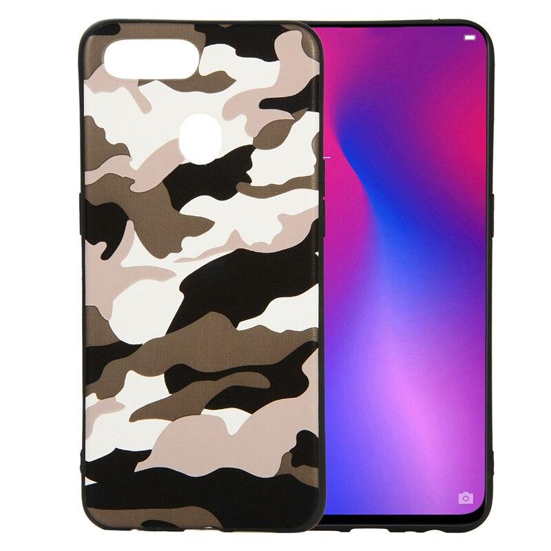 OPPO F9 Pro Case Army Camo Soft Silicone Back Case Cover OPPO F9Pro Camouflage Case Coque for Oppo F9 F 9 F9Pro Fundas