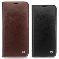 2017 For Samsung Galaxy S8 Original QIALINO Brand Natural Calf Skin Genuine Leather Case Cover For