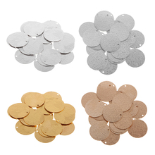 20pcs Brass Blank Coin Stamping Charms Tag Pendants Finding 30mm