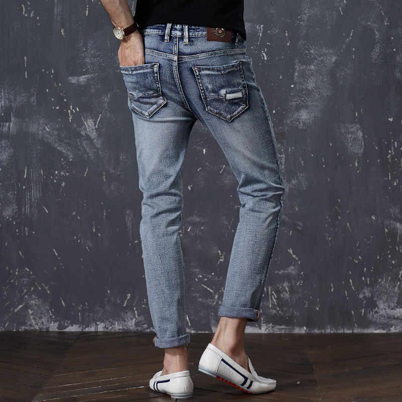 Airgracias男性綿ストレートクラシックレトロ懐かしジーンズ春男性デニムパンツデザイナー男性ジーンズ高品質サイズ28-44