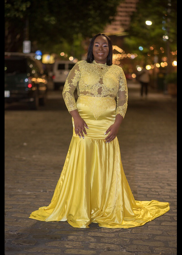 Us 13668 2019 Yellow African Lace Appliqued South African Prom Dress Mermaid Long Sleeve Banquet Evening Party Gown Vestidos De Fiesta In Prom