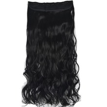 TOPREETY Heat Resistant B5 Synthetic Hair Fiber 24″ 60cm 120gr Wavy 5 clips on clip in Hair Extension 60 Colors Available