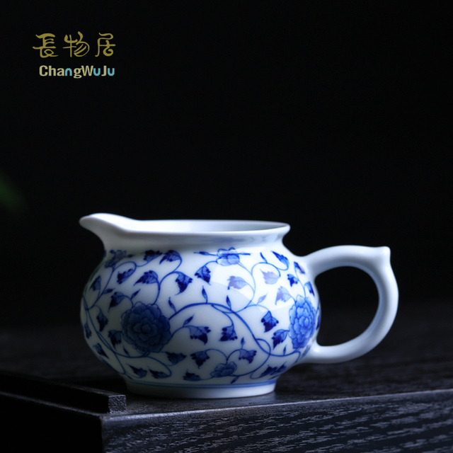 Changwuju in Jingdezhen teapot the hand painted blue and white Kung-Fu tea fair cup as a Chinese gift tea infuser cup porcelain