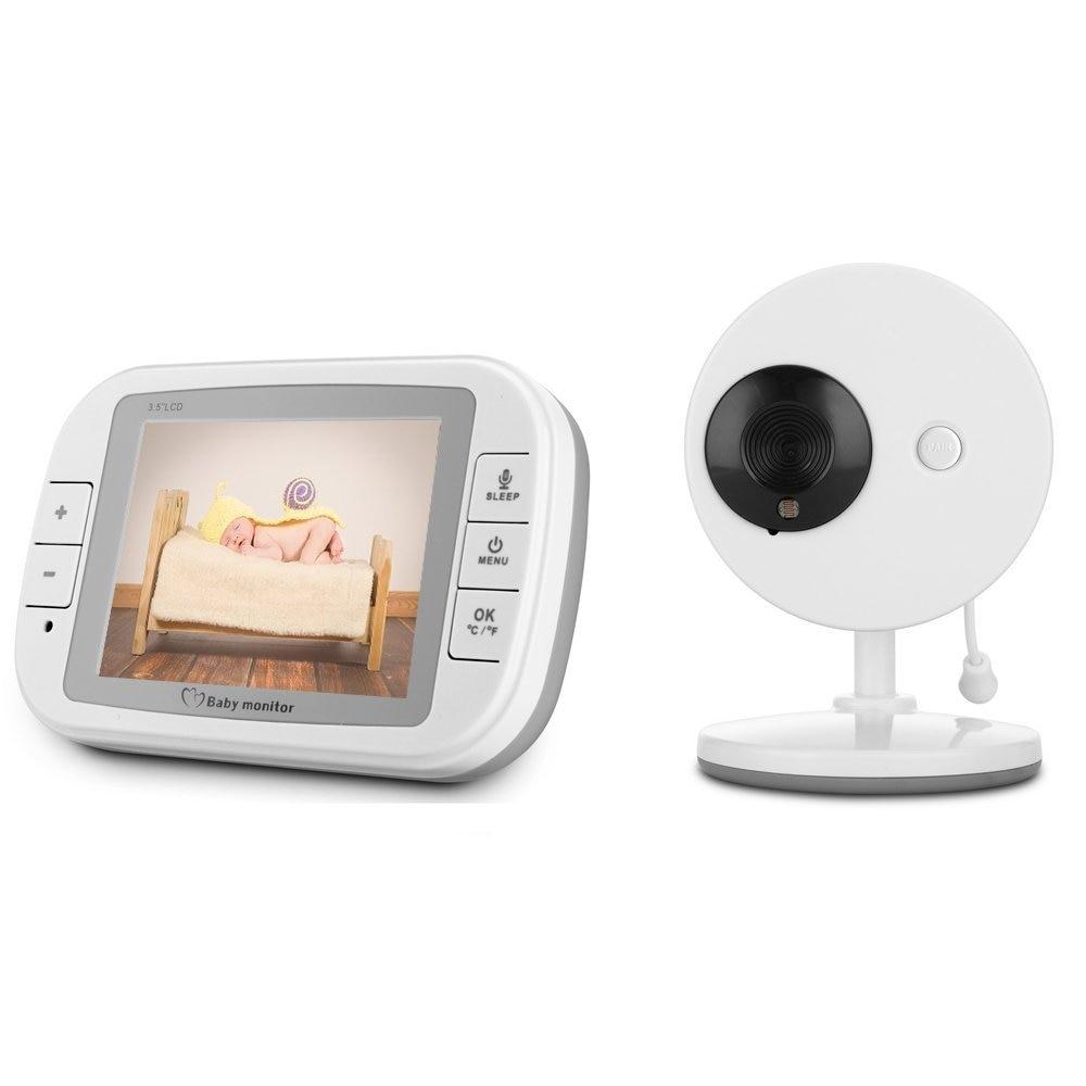 babykam elektroniczna niania baby camera nanny 3.5 inch LCD IR Night Vision Temperature Monitor Lullabies Intercom kamera