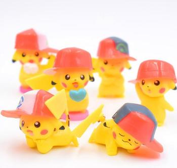 6pcs/set Six Styles Pikachu Mini Action Figures Doll Collections Toys Cartoon Model Figurine Free Shipping Игрушка