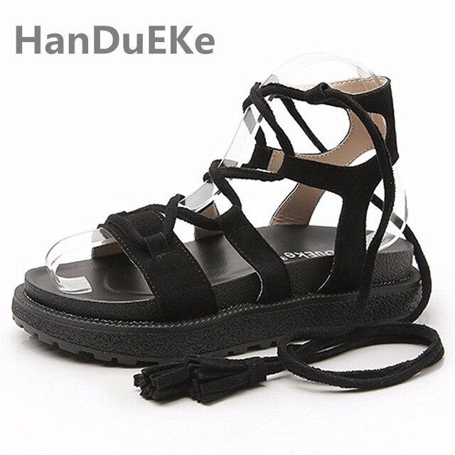 8096382bccae Popular Women Gladiator Sandals Big Size 42 43 Ladies Shoes Ankle Strap Women  Sandals 2019 Flat Summer Shoes For Teenage Girls