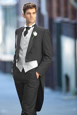 Hot Wedding Best Man Groomsmen Tailcoat Groom Suit Formal Business Party Tuxedo