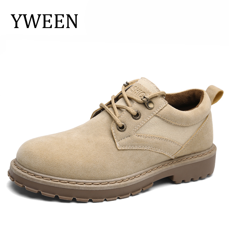 YWEEN New Spring Casual Shoes Men Hard-Wearing Solid Lace-up Shoes Man Fashion Flat With Shoe hot sale casual shoes men spring autumn waterproof solid lace up man fashion flat with pu leather outdoors shoe