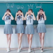 Short-sleeved suit female high school student school uniform sailor suit College Wind  TB1