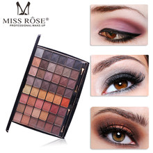MISS ROSE 48 colors professional eyeshadow palette 3D matte delicately wet eye shadow makeup kits women fashion eyes cosmetics