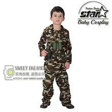 Garçons Cool Mode Camouflage Vêtements Set Kid Uniforme Militaire Armée de Vêtements Enfants Costume Costumes de Scène de Spectacle