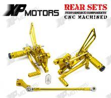 Новая коллекция ЧПУ золото Регулируемые подножки Rearset подножки сзади Наборы для Yamaha YZF R1 2009 2010 2011 2012 2013 2014