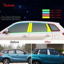 Tonlinker Esterno Auto Porta Finestre Adesivi Copertura per SUZUKI Vitara 2016-19 Car Styling 6-10 PCS In Acciaio copertura in acciaio adesivo