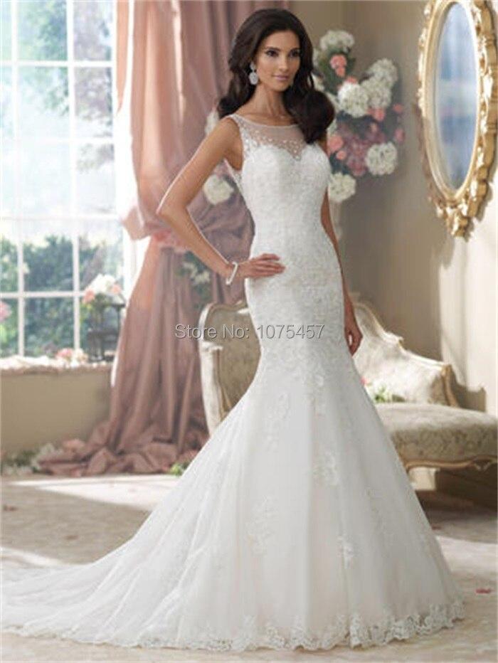 Popular Mermaid Wedding Dresses 2014-Buy Cheap Mermaid Wedding ...