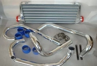 Aluminium racing Turbo Intercooler kit for 1995 2000 SUBARU IMPREZA GC8 WRX STI