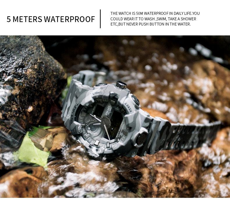 12 digital army watch